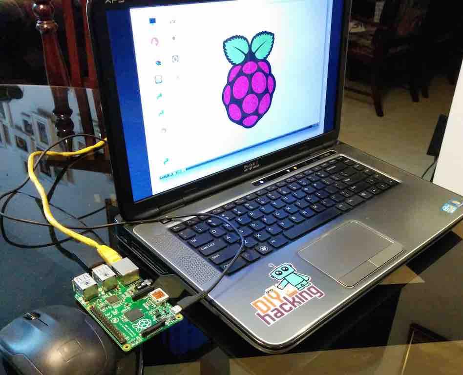 怎样将树莓派连接到笔记∏本的显示屏上