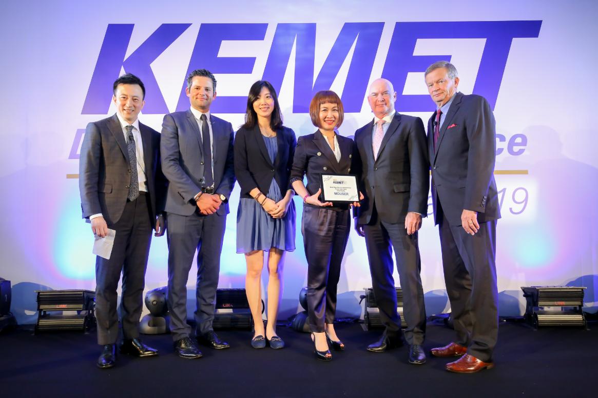 贸泽电子获KEMET认可 荣膺KEMET2019...