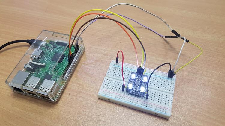 怎样实现树莓派色彩传感器接口进行色彩检测