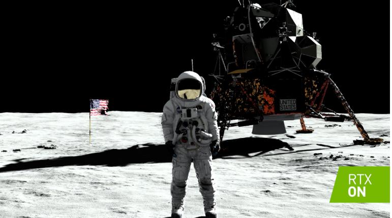 體驗月球漫步:NVIDIA RTX讓參與者近距離...