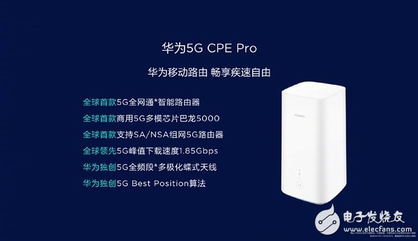 华为5GCPEPro路由发布 定价2499元