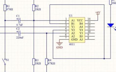 按键控制延时灯应用的数字电路分析
