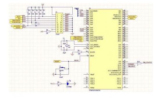stm32f103rct6核心板的电路原理图和硬件图纸合集免费下载 本文档的