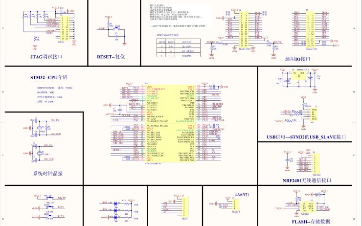 STM32F103RCT6核心板的电路原理图和硬件图纸合集免费�K下载