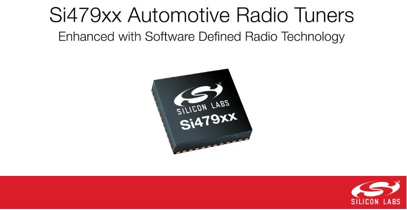 Silicon Labs利用软件定义无线电技术,提升广受欢迎的Si479xx汽车调谐器系列产品
