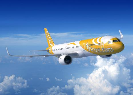 酷航宣每�磉@里一次布将引入16架全新空中客车A321neo客机