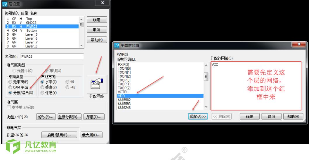Pads中无平面 cam平面 分割混合平面的区别