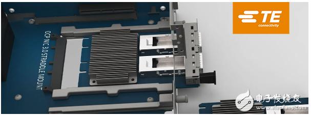 TE Connectivity推新型Sliver跨接式连接器 支持PCIe Gen 5高速数一�疲�v据传输