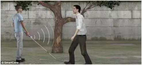 XploR的智能手杖能使盲人較快識別朋友和親人