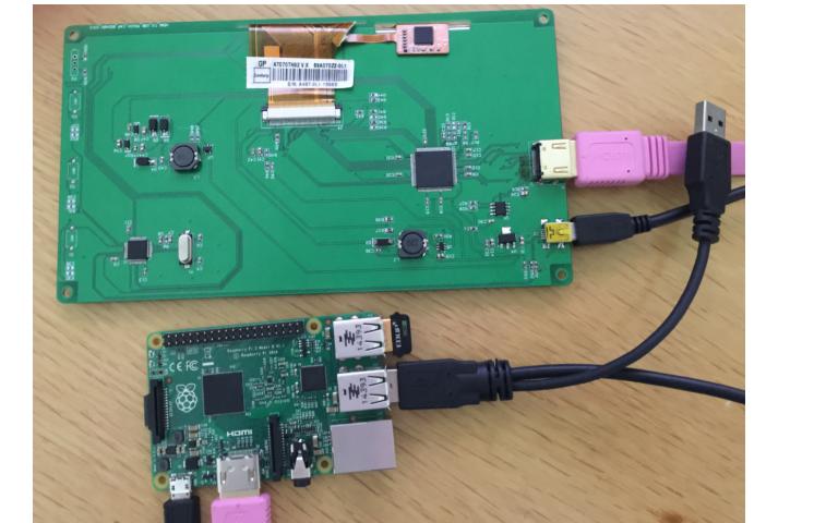 树莓派7.0寸usb电容触摸显示器的使用说明