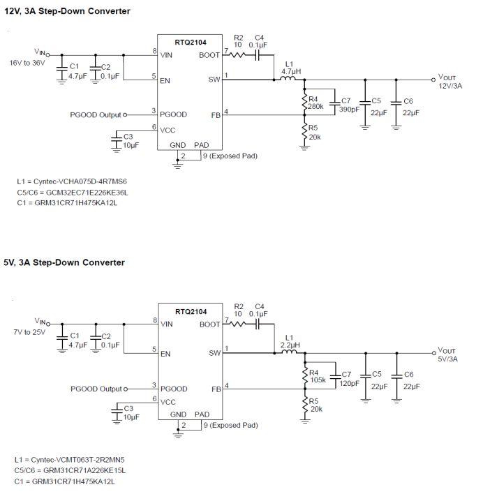 关于同步Buck转换器 RTQ2104-QA的分析和应用
