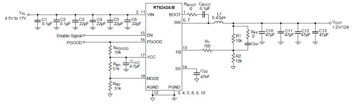 关于17VBuck转换器RT6243A/B的分析和介绍