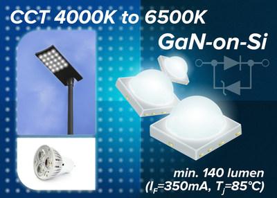 针对输出 功率效率优化的新系列高功率白光LED