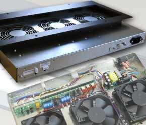 机架式风扇托架由可编程控制器管理,该控制器将风扇运行限制在半温