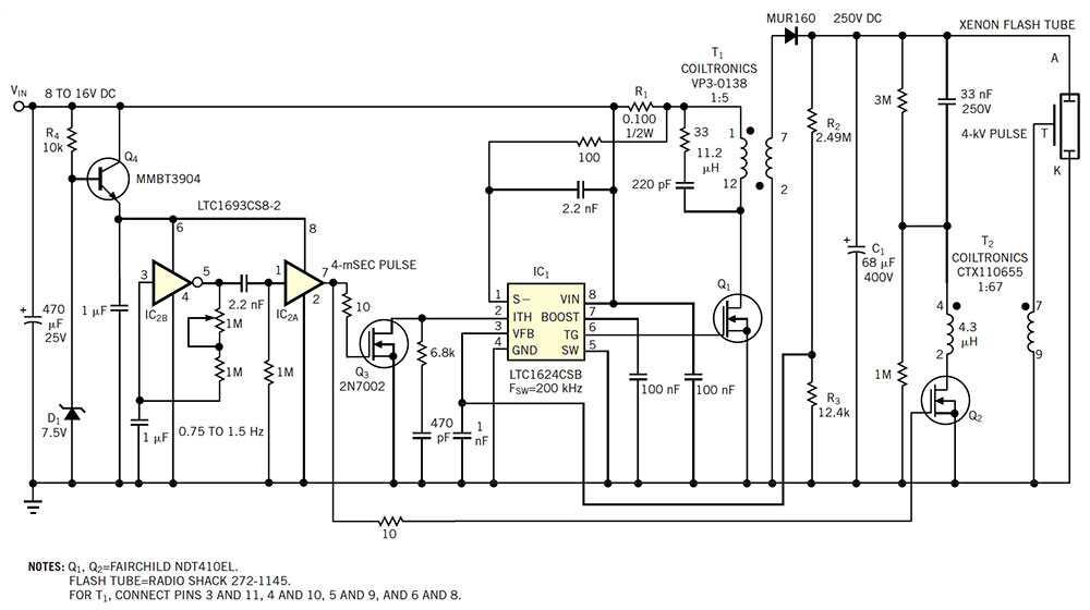 一个双MOSFET驱动器,用作1 Hz振荡器