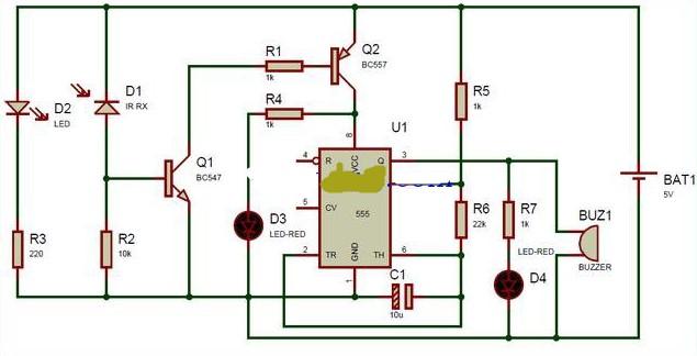 红外探测器电路的组成及工作原理分析