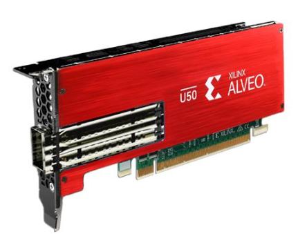 Xilinx推出业界首款支持第四代PCIe轻量级加速卡——Alveo U50