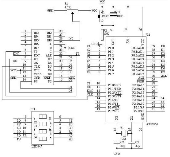 AT89S51單片機對數字電壓表的設計
