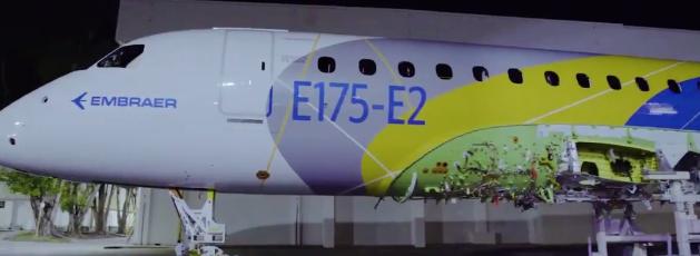 巴航工业首架E175-E2原型机已完成喷涂工作将于2021年开始服役