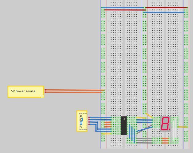 如何连接7段显示器和解码器以及arduino