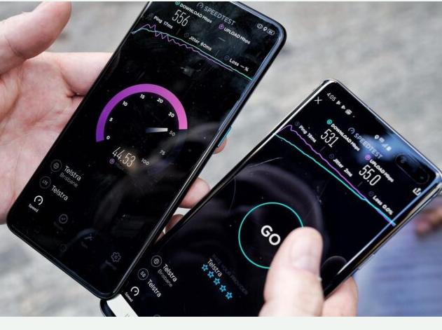OPPO Reno手机的5G下行速度达到了681Mbps位居测试5G手机的榜首