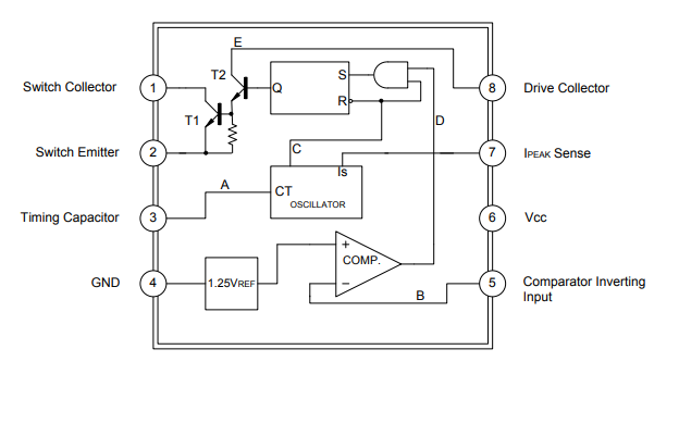 MC34063A线性集成电路的数据手册免费下载