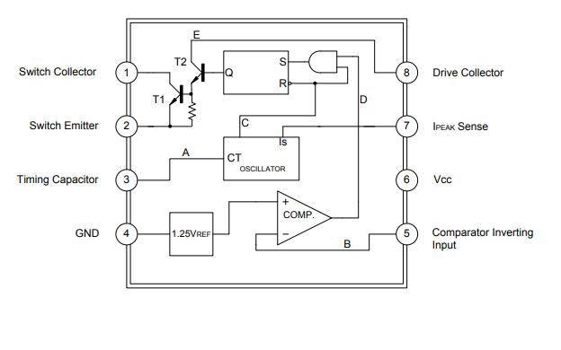 MC34063A線性集成電路的數據手冊免費下載