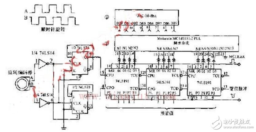 旋轉編碼器電路原理圖