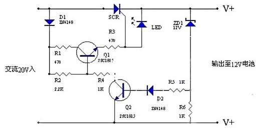 摩托车蓄电池充电电路的工作原理分析