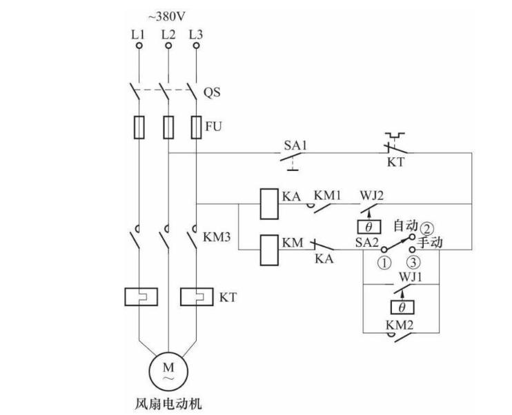 浅析电力变压器自动降温电气控制线路图