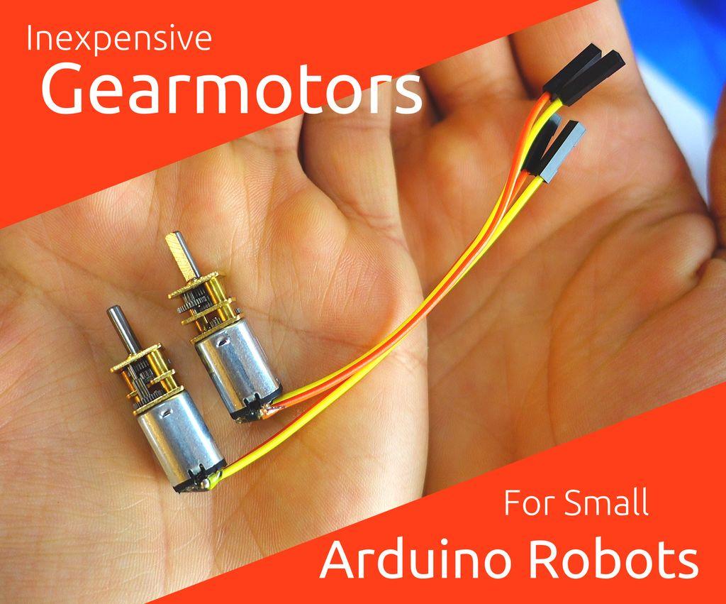 适用于小型机器人的廉价电机制作
