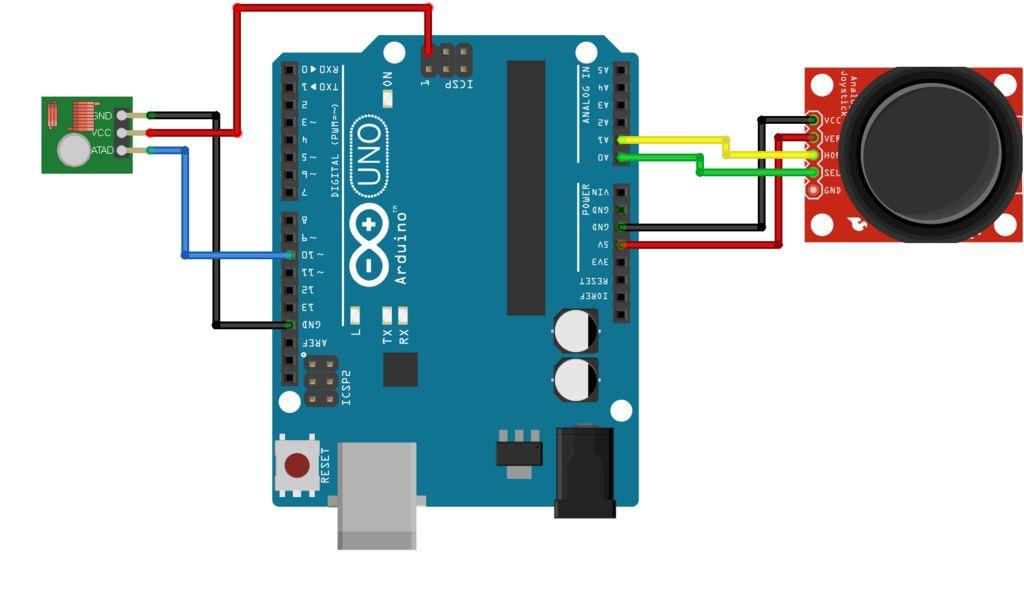 适用于Arduino的RF操纵杆的制作