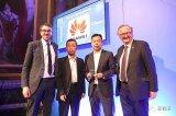 """伦敦举行的5G全球峰会上,华为荣获""""最佳5G核心网技术""""奖"""