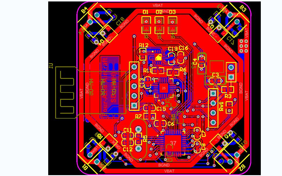 使用STM32单片机设计的无人机飞控程序和原理图及PCB资料免费下载