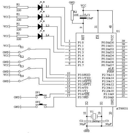 AT89S51单片机实现可预置可逆4位计数器的设计