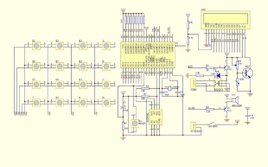 電子密碼鎖電路原理圖和PCB圖免費下載