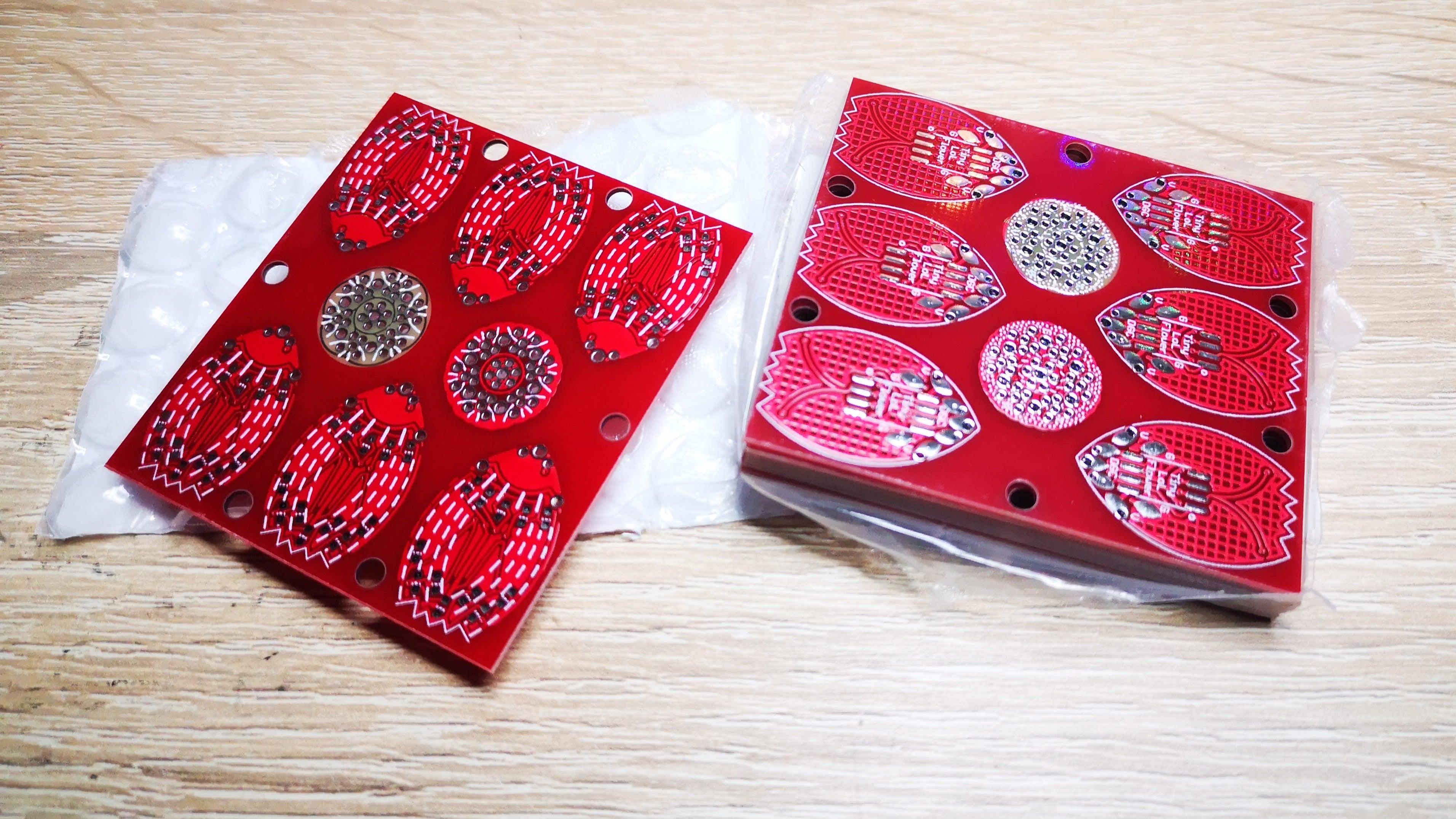 LED花朵创意电路制作