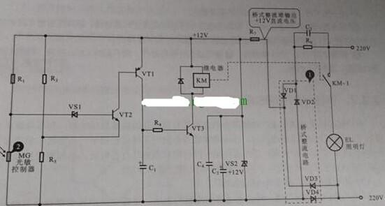 光控照明灯电路的构成及工作原理分析