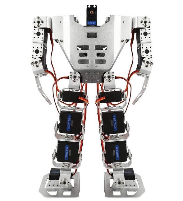 带有17个伺服电机的人形双足机器人组装图解