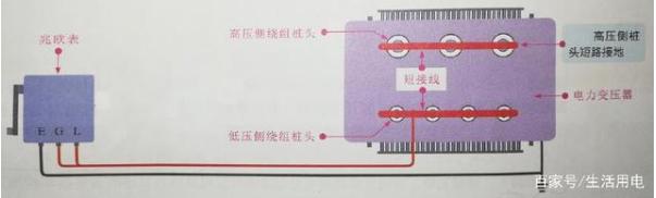 变压器绝缘电阻测试的接线方式