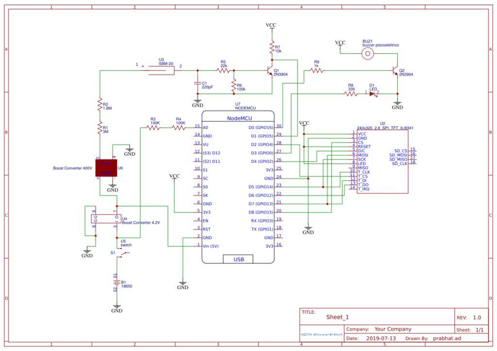 带触摸控件的GUI显示器的制作教程