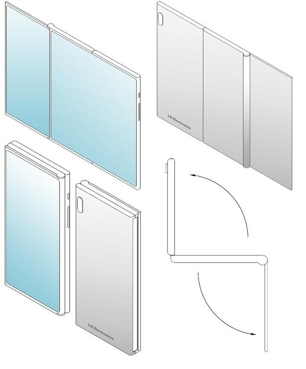 LG折叠屏手机专利曝光采用了罕见的三折设计