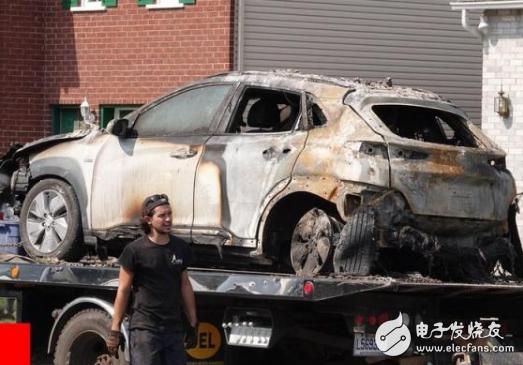 现代Kona电动版SUV在加拿大魁北克省蒙特利尔发生爆炸