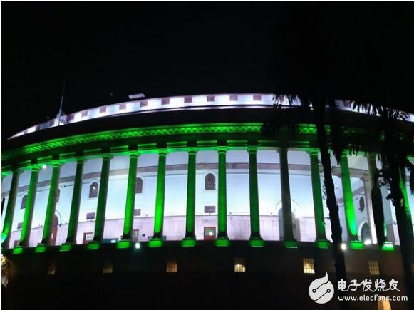 印度国会大厦换上全新LED永久照明