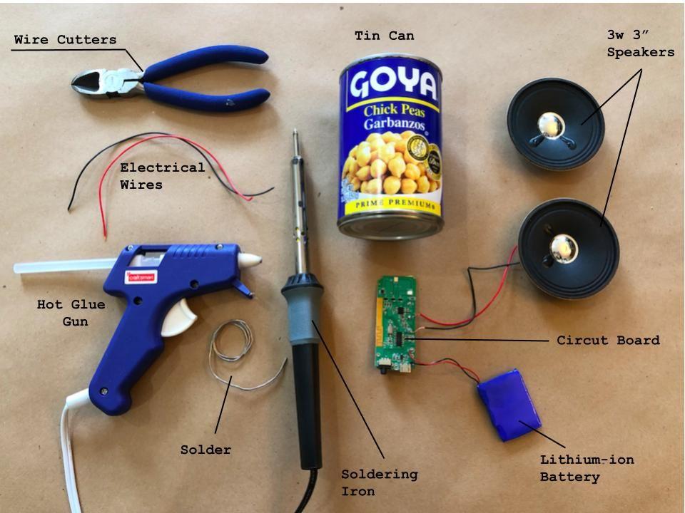 如何用锡罐制作一个蓝牙音箱