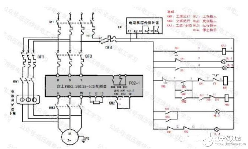 工频变频转换电路图
