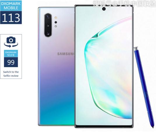 三星Galaxy Note10拍照得分为113分...