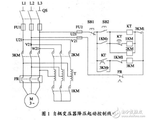 变压器降压启动电路图