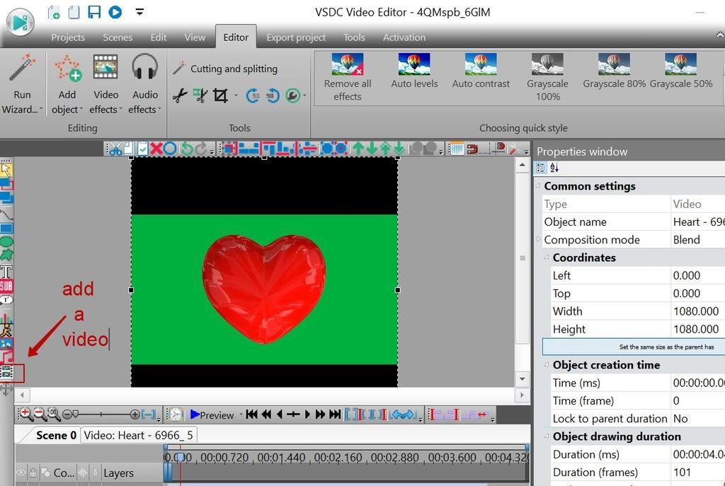 如何使用VSDC从视频中删除绿屏