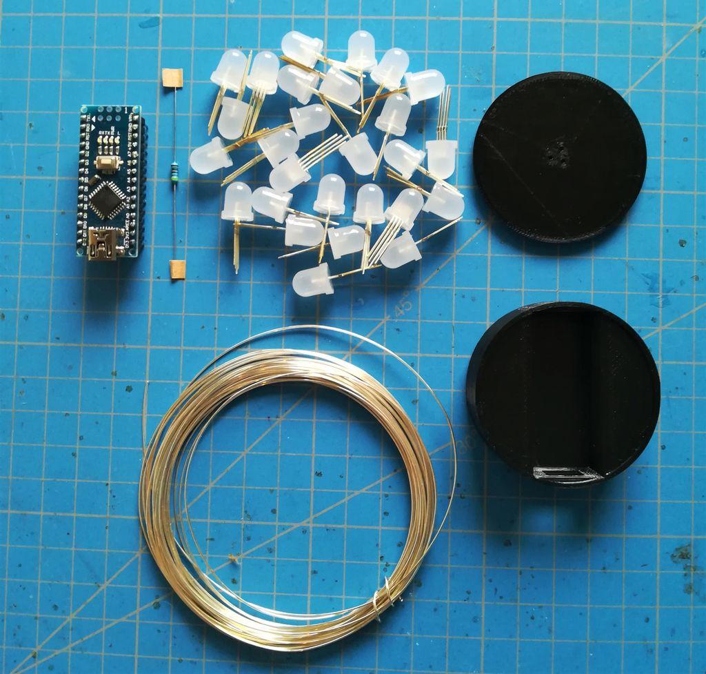 简易ArduinoRGBLED立方体的制作